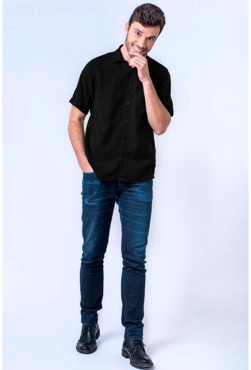 Camisa-casual-masculina-tradicional-tencel-preto-f06020a-4