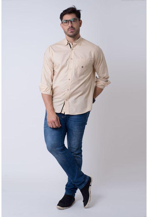 Camisa-casual-masculina-tradicional-algodao-fio-50-bege-f01943a-4