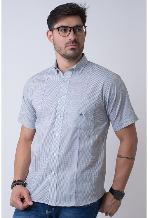 Camisa-casual-masculina-tradicional-algodao-fio-60-verde-f01381a-1