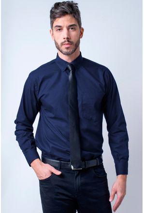 Camisa-social-masculina-tradicional-algodao-misto-azul-escuro-r09993a-1