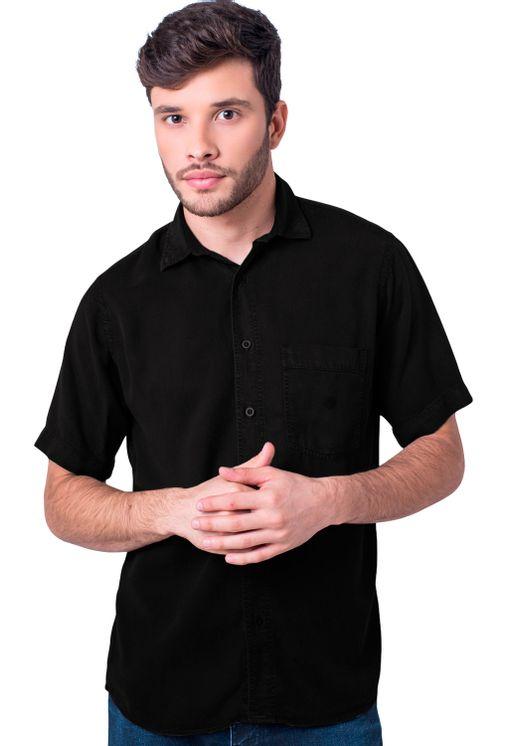 Camisa-casual-masculina-tradicional-tencel-preto-f06020a-5