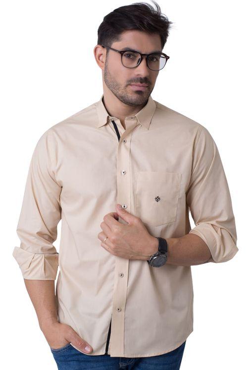 Camisa-casual-masculina-tradicional-algodao-fio-50-bege-f01943a-5