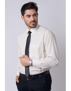 12cd9dbfac Camisa social masculina tradicional algodão fio 50 bege r01281a 05 ...