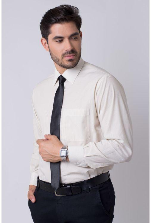 Camisa-social-masculina-tradicional-algodao-fio-50-bege-r01281a-1