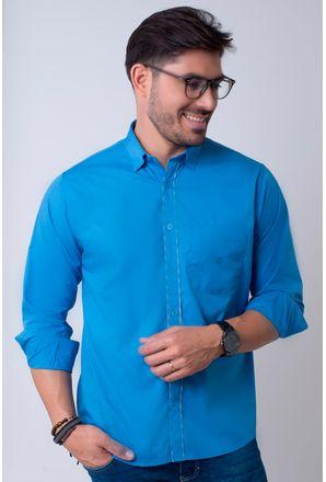 Camisa-casual-masculina-tradicional-algodao-fio-40-azul-medio-f02043a-1
