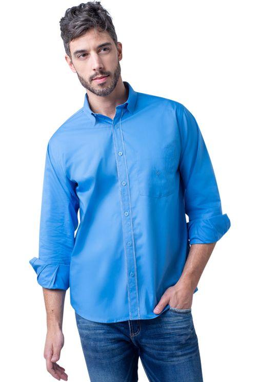 Camisa-casual-masculina-tradicional-algodao-fio-40-azul-medio-f02043a-5