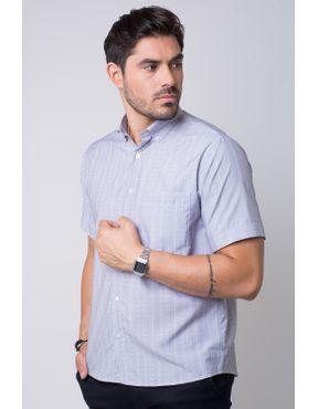 8f652d28f6eae Camisa casual masculina tradicional microfibra cinza f07524a 05 ...