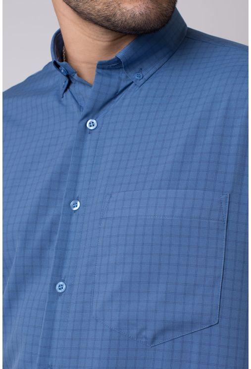 Camisa-casual-masculina-tradicional-microfibra-azul-medio-f07527a-1
