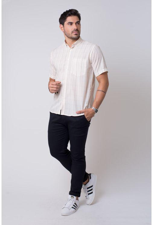 Camisa-casual-masculina-tradicional-microfibra-creme-f07527a-4