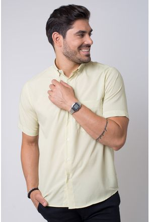 7cb1aff5cb Camisa-casual-masculina-tradicional-microfibra-amarelo-f07527a-1 ...