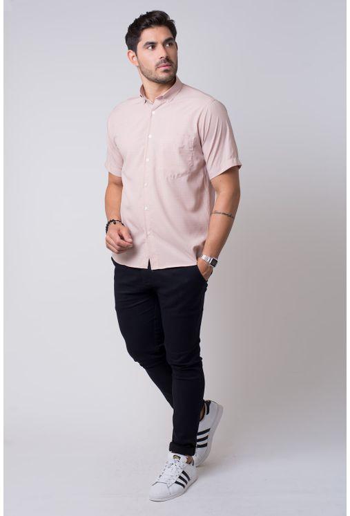 Camisa-casual-masculina-tradicional-microfibra-marrom-f07527a-4