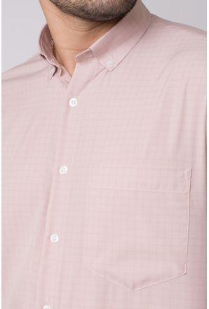 Camisa-casual-masculina-tradicional-microfibra-marrom-f07527a-3