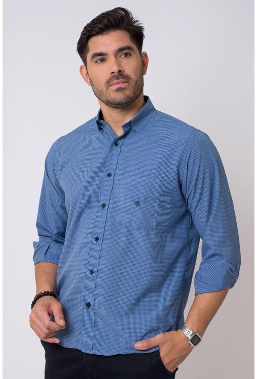 Camisa-casual-masculina-tradicional-microfibra-azul-escuro-f01790a-1