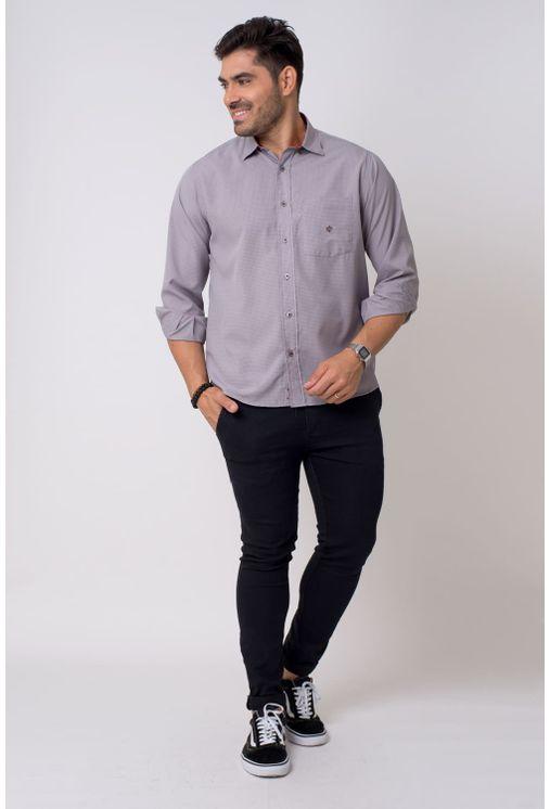 Camisa-casual-masculina-tradicional-microfibra-grafite-f01790a-4
