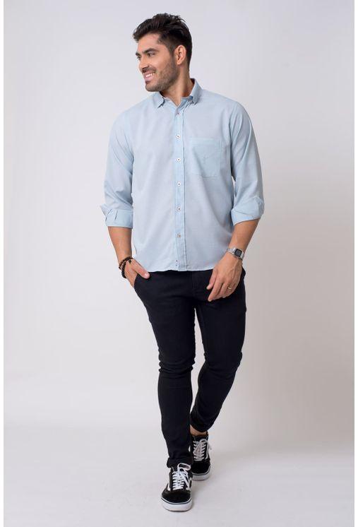 Camisa-casual-masculina-tradicional-microfibra-cinza-f01790a-4
