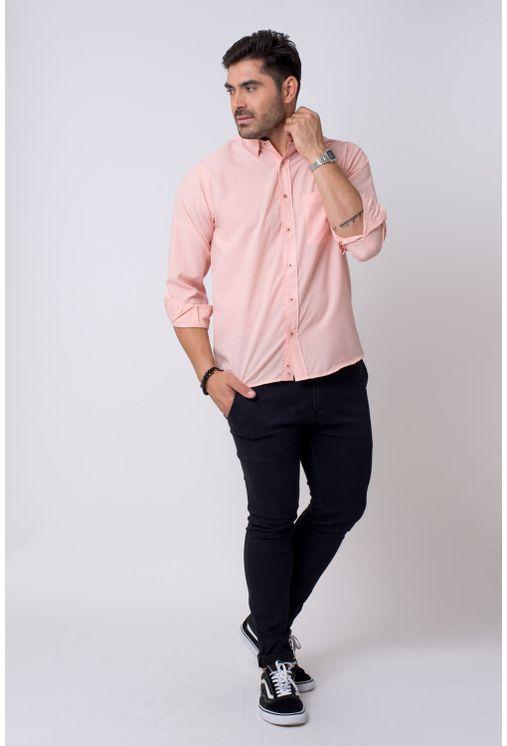 Camisa-casual-masculina-tradicional-microfibra-salmao-f01790a-4