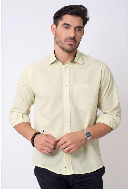 Camisa-casual-masculina-tradicional-microfibra-amarelo-f01790a-1