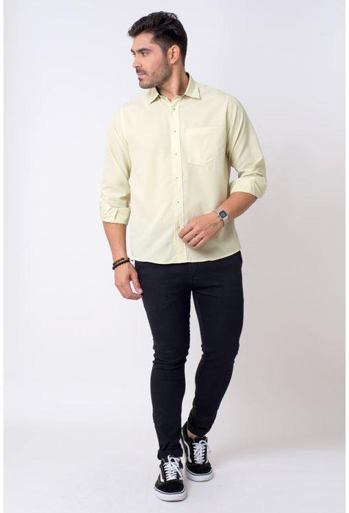 Camisa-casual-masculina-tradicional-microfibra-amarelo-f01790a-4