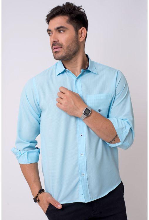 Camisa-casual-masculina-tradicional-microfibra-azul-claro-f01790a-1