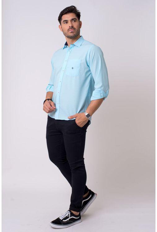 Camisa-casual-masculina-tradicional-microfibra-azul-claro-f01790a-4