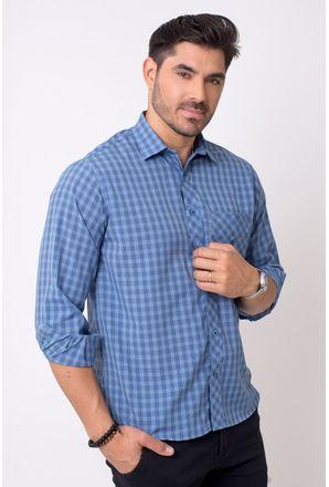 Camisa-casual-masculina-tradicional-microfibra-azul-medio-f01794a-1