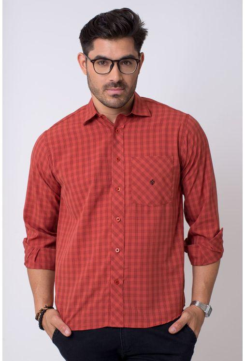 Camisa-casual-masculina-tradicional-microfibra-vermelho-f01794a-1