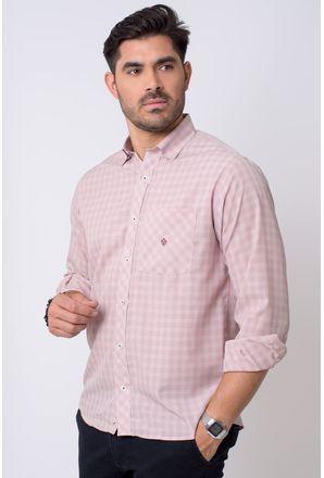 Camisa-casual-masculina-tradicional-microfibra-bege-f01794a-1