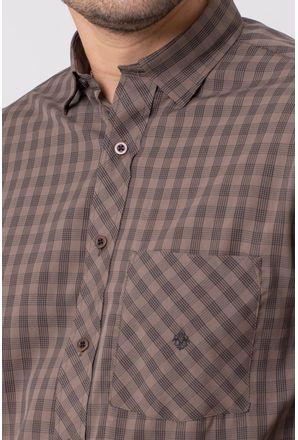 Camisa-casual-masculina-tradicional-microfibra-marrom-f01794a-3