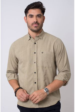 Camisa-casual-masculina-tradicional-microfibra-bege-f01798a-1