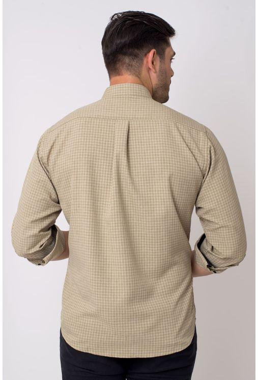 Camisa-casual-masculina-tradicional-microfibra-bege-f01798a-2