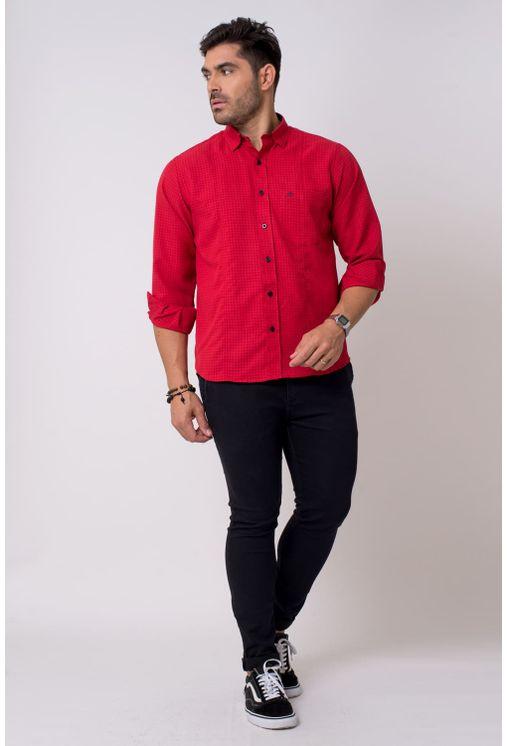 Camisa-casual-masculina-tradicional-microfibra-vermelho-f01798a-1
