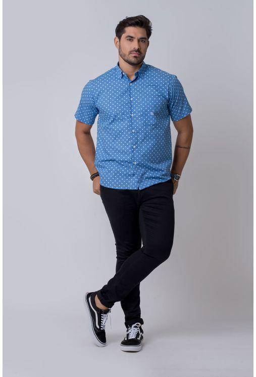Camisa-casual-masculina-tradicional-algodao-misto-azul-claro-f02176a-4