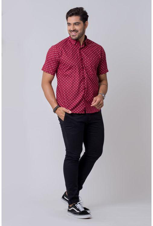 Camisa-casual-masculina-tradicional-algodao-misto-bordo-f02176a-4