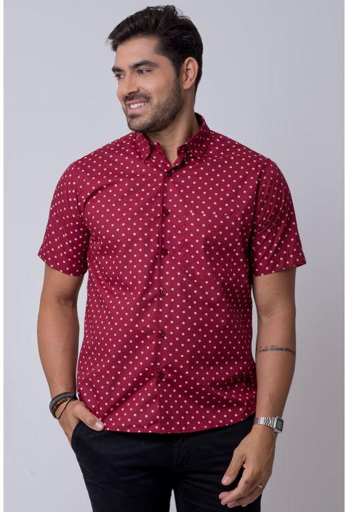 Camisa-casual-masculina-tradicional-algodao-misto-bordo-f02176a-1