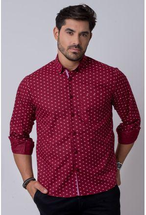 Camisa-casual-masculina-tradicional-algodao-misto-bordo-f02145a-1