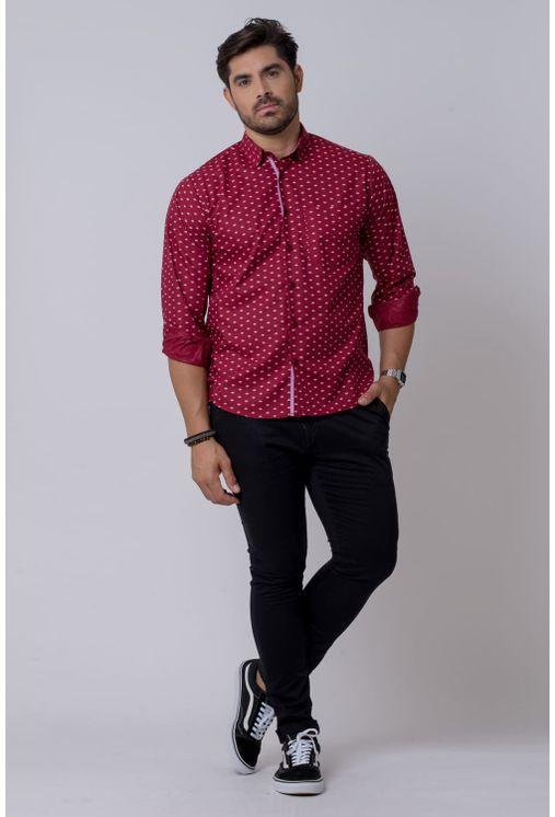 Camisa-casual-masculina-tradicional-algodao-misto-bordo-f02145a-4