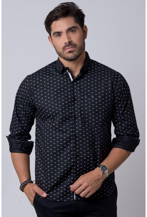 Camisa-casual-masculina-tradicional-algodao-misto-preto-f02145a-1