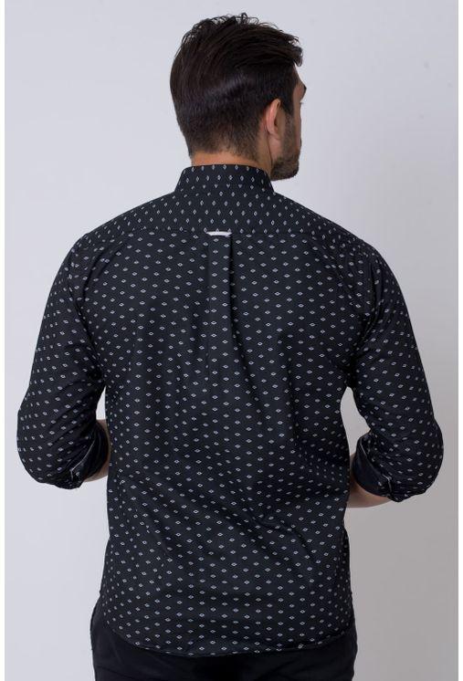 Camisa-casual-masculina-tradicional-algodao-misto-preto-f02145a-2