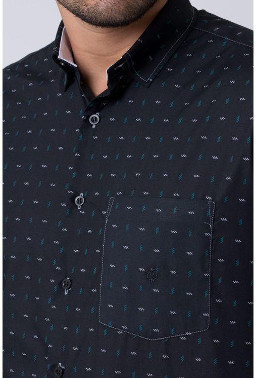 Camisa-casual-masculina-tradicional-algodao-misto-preto-f02147a-1