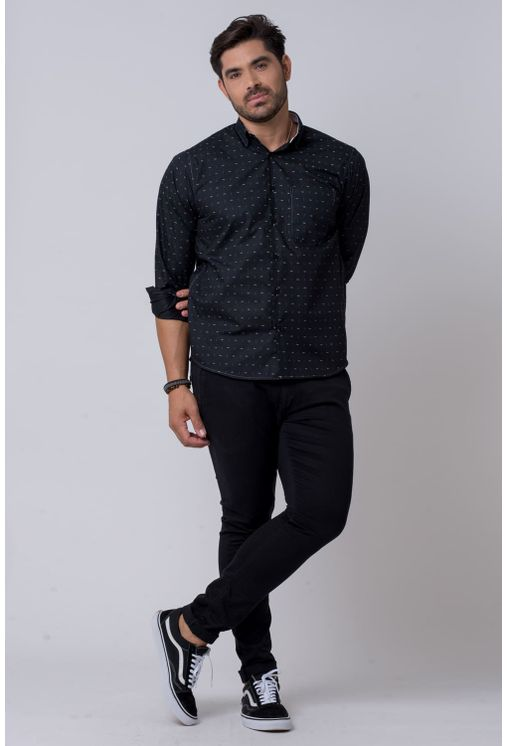 Camisa-casual-masculina-tradicional-algodao-misto-preto-f02147a-4