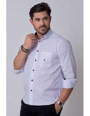 d467a76990 Camisa casual masculina tradicional algodão misto branco f02147a ...