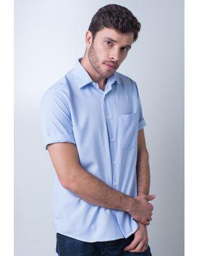 d3775ac104a95 Camisa casual masculina tradicional passa fácil azul claro r09926a - Camisa  casual masculina tradicional algodão misto ...