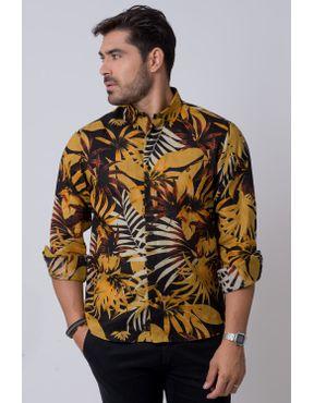 fa4a9583c9 Camisaria Fascynios Oficial · Camisa Casual Masculina · Rami. Camisa casual  masculina tradicional rami mostarda f02141a 01 ...