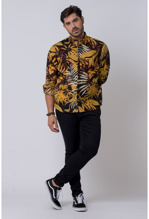 Camisa-casual-masculina-tradicional-rami-mostarda-f02141a-1