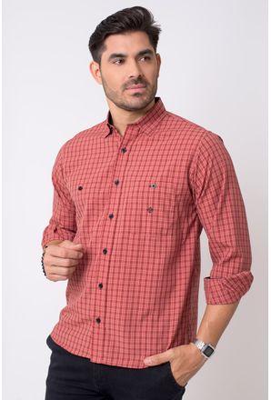 Camisa-casual-masculina-tradicional-microfibra-vermelho-f01791a-1