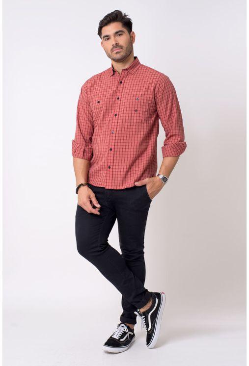 Camisa-casual-masculina-tradicional-microfibra-vermelho-f01791a-4