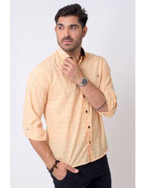 5b64328a48 Camisaria Fascynios Oficial · Camisa Casual Masculina · Microfibra. Camisa  casual masculina tradicional microfibra laranja f01792a 01 ...