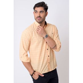 Camisa-casual-masculina-tradicional-microfibra-laranja-f01792a-1