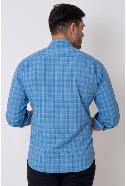 Camisa-casual-masculina-tradicional-microfibra-azul-f01792a-2