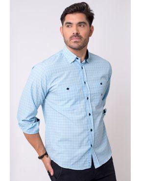 f6ebc35e6a Camisa casual masculina tradicional microfibra azul claro f01791a 01 ...